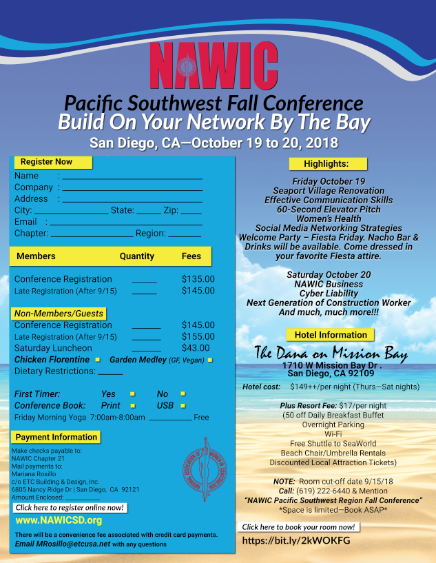 2018 Pacific SW Fall Conference @ The Dana On Mission Bay | San Diego | California | United States