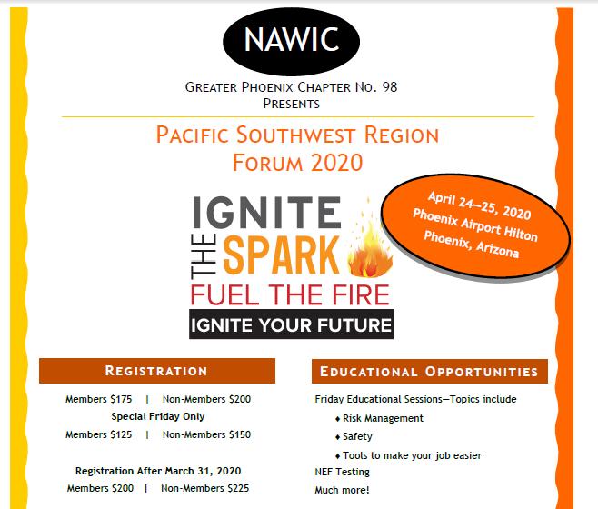 2020 PSW Forum @ Phoenix Airport Hilton (see flyer)